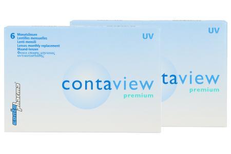 Contaview premium UV, 2 x 6 Stück Kontaktlinsen von Contopharma