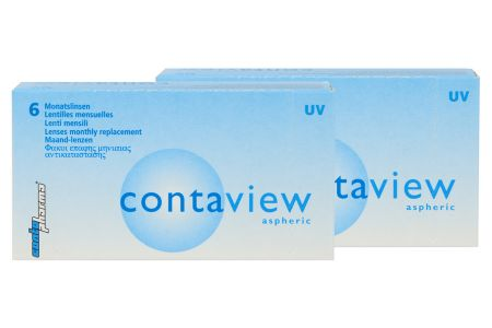 Contaview aspheric UV 2 x 6 Monatslinsen