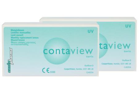 Contaview toric UV, 2 x 6 Stück Kontaktlinsen von Contopharma