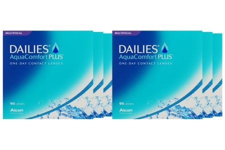 Dailies AquaComfort Plus Multifocal 6 x 90 Tageslinsen Sparpaket 9 Monate | Dailies AquaComfort Plus Multifocal, (6 x 90), Multifocal OneDay, Dailies, Sparpaket 9 Monate 2x270 Stück