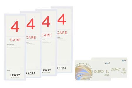 Dispo SL Multi, 2 x 6 Stück Kontaktlinsen von Conil & Dynaeasy 4, Halbjahres-Sparpaket