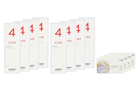 Dispo SL Multi, 4 x 6 Stück Kontaktlinsen von Conil & Lensy Care 4, Jahres-Sparpaket
