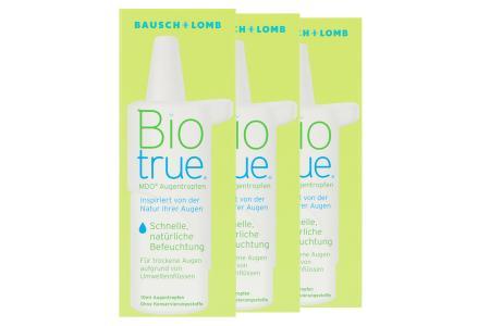 Biotrue MDO 3 x 10 ml Augentropfen | Biotrue MDO® Augentropfen 3 x 10 ml - Schnelle, natürliche Befeuchtung für trockene, müde und gestresste Augen sowie Kontaktlinsen