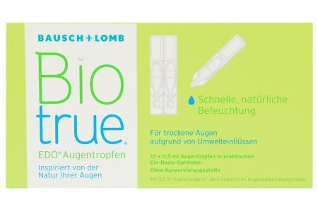 Biotrue EDO 10 x 0,5 ml Augentropfen | Biotrue EDO® Augentropfen 10 x 0,5 ml - Schnelle, natürliche Befeuchtung für trockene, müde und gestresste Augen sowie Kontaktlinsen