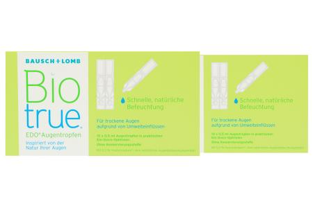 Biotrue EDO 2 x 10 x 0,5 ml Augentropfen | Biotrue EDO® Augentropfen 2 x 10 x 0,5 ml - Schnelle, natürliche Befeuchtung für trockene, müde und gestresste Augen sowie Kontaktlinsen