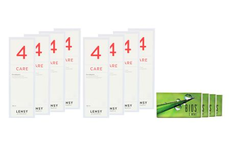 Bios Comfort Kontaktlinsen & Lensy Care 4, Jahres-Sparpaket