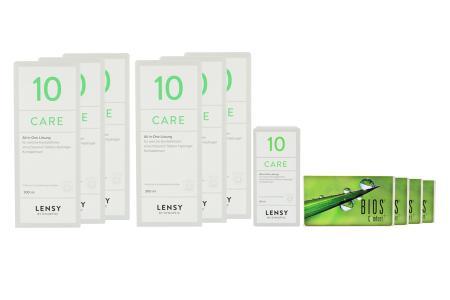 Bios Comfort Kontaktlinsen & Lensy Care 10, Jahres-Sparpaket
