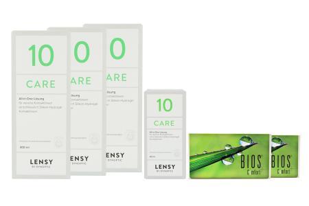 Bios Comfort Kontaktlinsen & Lensy Care 10, Halbjahres-Sparpaket
