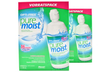 Opti-Free Pure Moist 2 x Doppelpack 4 x 300 ml All-in-One Lösung