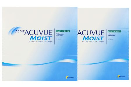 1-Day Acuvue Moist Multifocal 2 x 90 Tageslinsen Sparpaket 3 Monate | 1-Day Acuvue Moist Multifocal, Sparpaket 3 Monate 2 x 90 Stück Kontaktlinsen von Johnson & Johnson