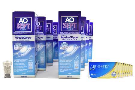 Air Optix EX Kontaktlinsen von Ciba Vision & AoSEPT Plus HydraGlyde, Jahres-Sparpaket
