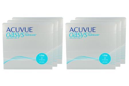Acuvue Oasys 1-Day with HydraLuxe Kontaktlinsen von Johnson&Johnson, Sparpaket 9 Monate 2x270 Stück