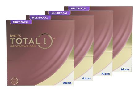 Dailies Total 1 Multifocal Kontaktlinsen von Ciba Vision / Alcon, Sparpaket 6 Monate 2x180 Stück