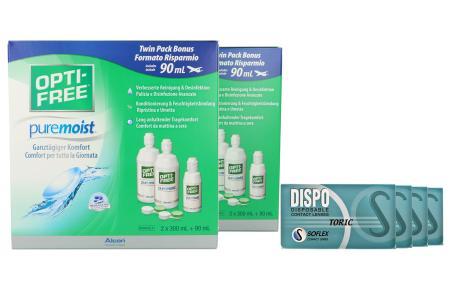 Dispo Toric Kontaktlinsen von Soflex/Conil & Opti Free Pure Moist, Jahres-Sparpaket