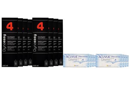 Acuvue Oasys Kontaktlinsen von Johnson & Johnson + Dynaeasy 4 - Jahres-Sparpaket