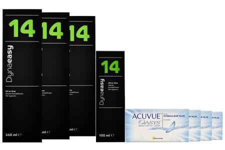 Acuvue Oasys Kontaktlinsen von Johnson & Johnson + Dynaeasy 14 - Halbjahres-Sparpaket