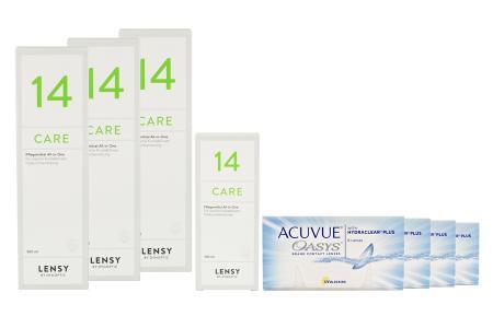 Acuvue Oasys Kontaktlinsen von Johnson & Johnson + Lensy Care 14 - Halbjahres-Sparpaket
