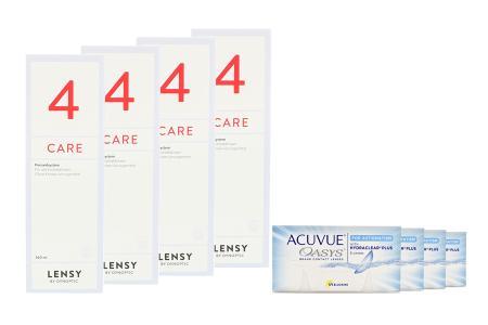 Acuvue Oasys for Astigmatism Kontaktlinsen von Johnson & Johnson + Lensy Care 4 - Halbjahres-Sparpaket