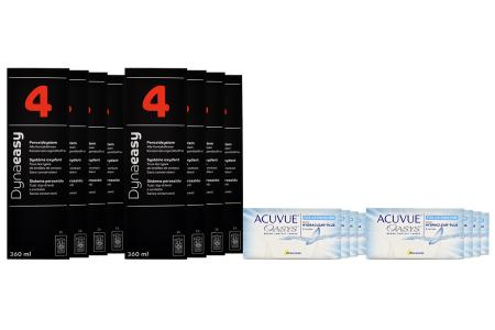 Acuvue Oasys for Astigmatism Kontaktlinsen von Johnson & Johnson + Dynaeasy 4 - Jahres-Sparpaket