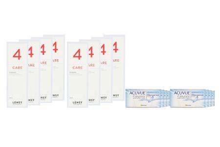 Acuvue Oasys for Astigmatism 8x6 Zwei-Wochenlinsen + Lensy Care 4 Jahres-Sparpaket