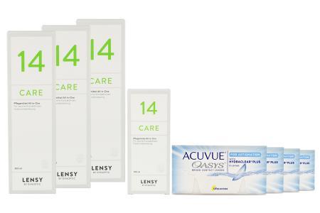 Acuvue Oasys for Astigmatism Kontaktlinsen von Johnson & Johnson + Lensy Care 14 - Halbjahres-Sparpaket