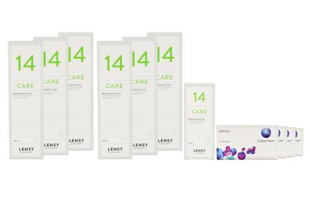 Biofinity 4 x 6 Monatslinsen + Lensy Care 14 Jahres-Sparpaket