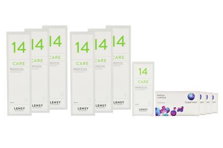 Biofinity multifocal Kontaktlinsen von Cooper Vision & Lensy Care 14, Jahrespaket