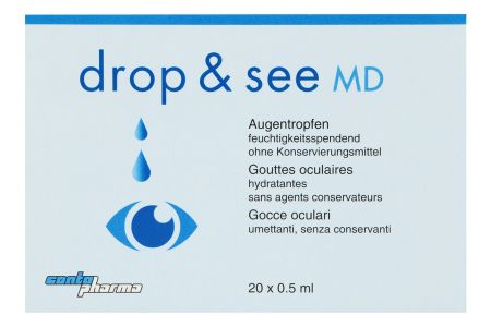 drop & see 20 x 0.5 ml Augentropfen | drop & see Contopharma Benetzung 20 x 0.5 ml