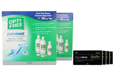 Dynalens 30 Soft+ Kontaktlinsen von Dynoptic & Opti Free Pure Moist, Jahres-Sparpaket
