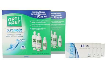 Extreme H2O 54 Kontaktlinsen & Opti Free Pure Moist, Jahres-Sparpaket