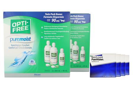 PureVision Kontaktlinsen von Bausch&Lomb & Opti Free Pure Moist, Jahres-Sparpaket