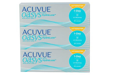 Acuvue Oasys 1-Day for Astigmatism with HydraLuxe, 90 Stück Kontaktlinsen von Johnson&Johnson