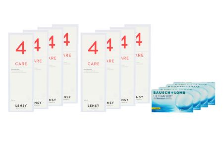 Ultra for Presbyopia, 4x6 Stück Kontaktlinsen von Bausch & Lomb & Lensy Care 4 Jahrespaket