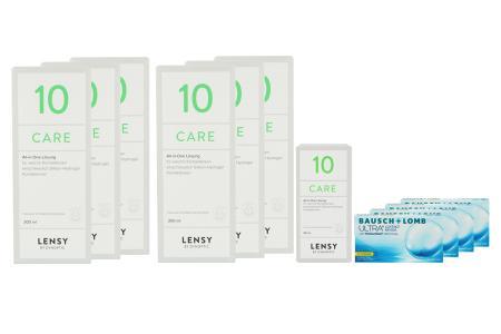 Ultra for Presbyopia, 4x6 Stück Kontaktlinsen von Bausch & Lomb & Lensy Care 10 Jahrespaket