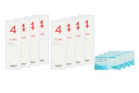 Ultra, 4x6 Stück Kontaktlinsen von Bausch & Lomb & Lensy Care 4 Jahrespaket