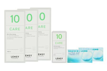 Ultra, 2x6 Stück Kontaktlinsen von Bausch & Lomb & Lensy Care 10 Halbjahrespaket