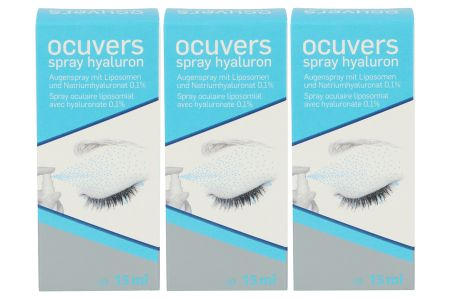 Ocuvers Spray Hyaluron 3 x 15ml