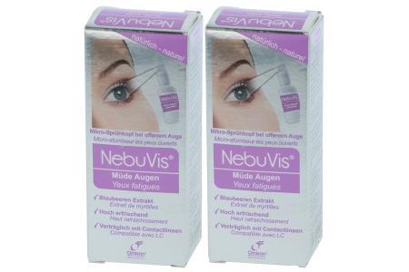 NebuVis Müde Augen 2 x 10 ml Augenspray | NebuVis Müde Augen 2 x 10 ml Augenspray mit Blaubeeren-Extrakt - benetzt, befeuchtet und entlastet müde Augen.
