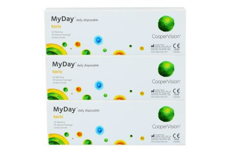 MyDay daily disposable toric 90 Tageslinsen | MyDay daily disposable toric, 90 Stück Tageslinsen aus Silikonmaterial