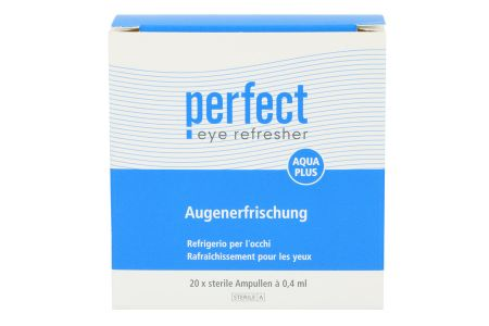 Perfect Aqua Plus Augenerfrischung 20 x 0.4 ml Augentropfen | Perfect Aqua Plus Augenerfrischung Benetzungstropfen 20 x 0.4 ml, aus natürlichen Inhaltsstoffen, mit Hyaluronat
