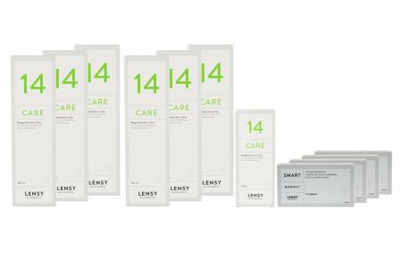 Lensy Monthly Smart Spheric Kontaktlinsen von Dynoptic & Lensy Care 14, Jahres-Sparpaket