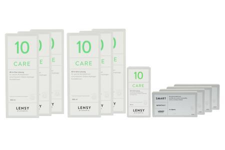 Lensy Monthly Smart Spheric Kontaktlinsen von Dynoptic & Lensy Care 10, Jahres-Sparpaket