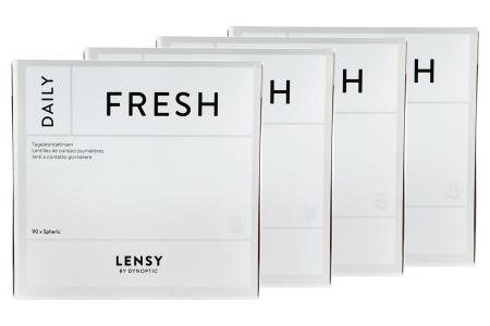 Lensy Daily Fresh Spheric 4 x 90 Tageslinsen Sparpaket 6 Monate | Lensy Daily Fresh Spheric (360er), Dynoptic