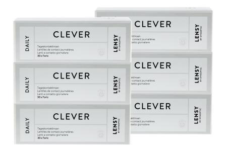 Lensy Daily Clever Toric, Kontaktlinsen von Dynoptic, Sparpaket 3 Monate 2 x 90 Stück