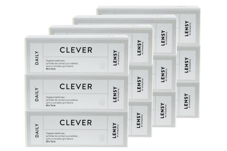 Lensy Daily Clever Toric 4 x 90 Tageslinsen Sparpaket 6 Monate | Lensy Daily Clever Toric Kontaktlinsen von Dynoptic, Sparpaket 6 Monate 4 x 90 Stück