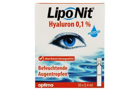 LipoNit Hyaluron 0.1% Augentropfen 30x 0.4ml