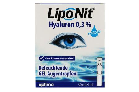 LipoNit Hyaluron Gel 0.3% Augentropfen 30x 0.4ml