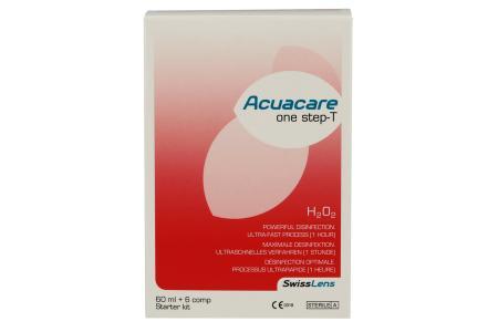 Acuacare One Step-T 60 ml Peroxid-Lösung Flight-Pack | Acuacare One Step-T 60 ml - Peroxidsystem mit Neutralisationstabletten, 1 Stunde