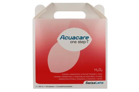 Acuacare One Step-T 3 x 360 ml Peroxid-Lösung | Acuacare One Step-T 3 x 360 ml - Peroxidsystem mit Neutralisationstabletten, 1 Stunde