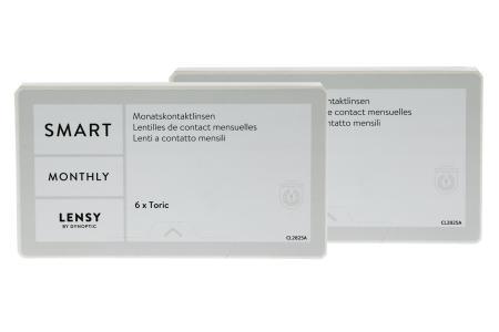 Lensy Monthly Smart Toric, 2x6 Stück Kontaktlinsen von Dynoptic